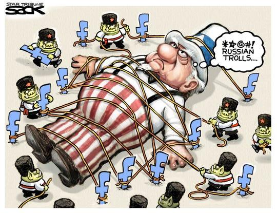 Russian trolls on Facebook.