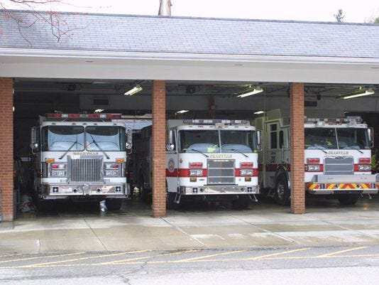 The current Granville Fire House. The township is in the process of building a new fire station.