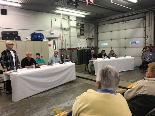 Candidates for Buckeye Lake Village Council attended a candidate forum at the Buckeye Lake Fire Department on Wednesday, Oct. 23, 2019.
