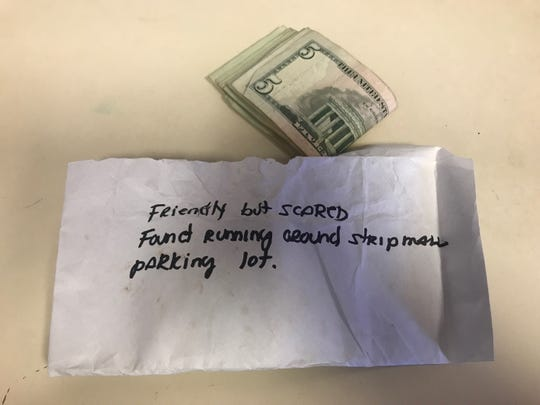 A note left with the kittens was found outside Ramapo Bergen Animal Refuge.