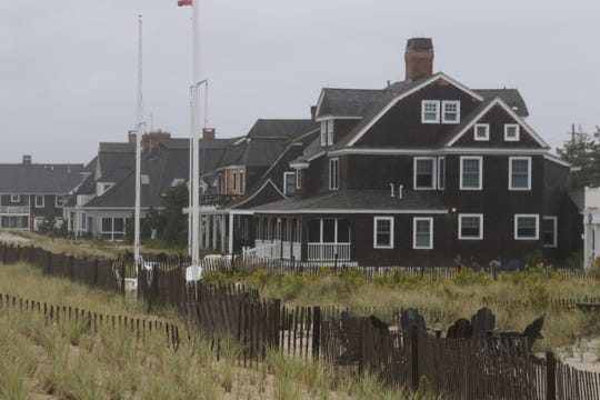 Homes on the beach in Mantoloking are protected by a sand dune built to try and stave off possible flooding from the ocean. Mantoloking was the hardest town hit by Super Storm Sandy in 2012.