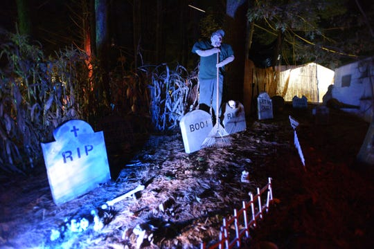 A creepy cemetery is part of the Scouts' attraction.