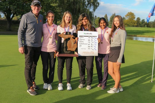 The Northville girls golf team won its second straight state championship.