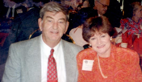 Mavis with husband Richard Frugé