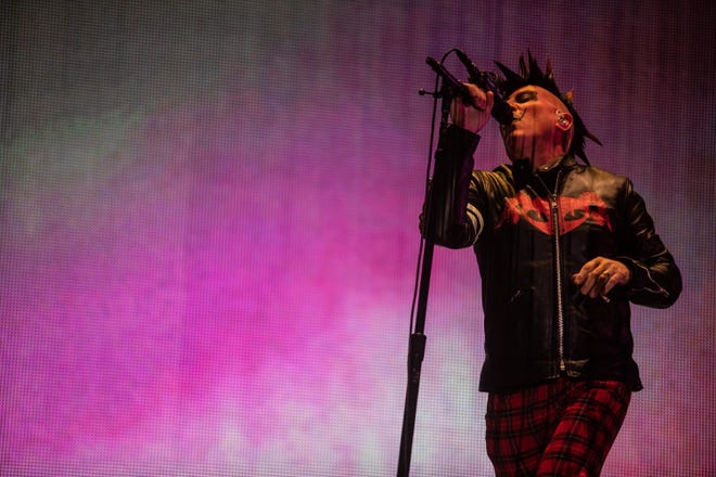 Maynard James Keenan of Tool performs at Gila River Arena on Wednesday, Oct. 23, in Glendale.