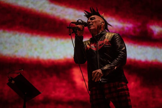 Maynard James Keenan performs with Tool at Gila River Arena in Glendale on Oct. 23, 2019.