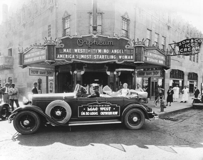 A historic photo of the Orpheum Theatre in downtown Phoenix.