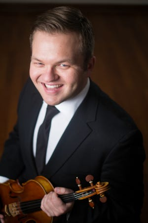 """Joshua Ulrich will perform """"First Violin Concerto"""" by Max Bruch during Saturday night's Richmond Symphony Orchestra concert in Civic Hall Performing Arts Center."""