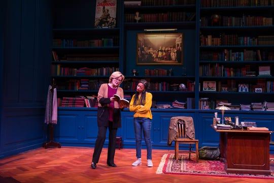 "Jordan Baker and Cindy De La Cruz in ""The Niceties"" at Geva."