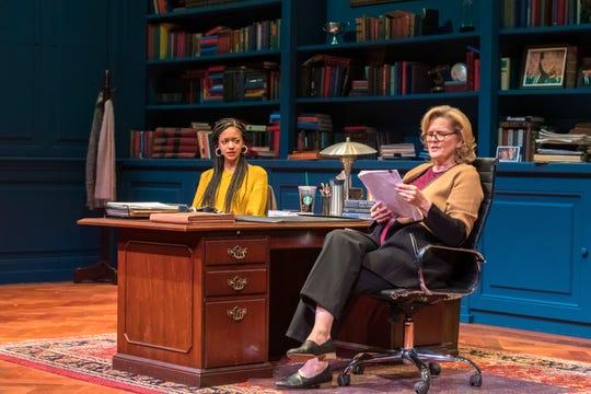 Cindy De La Cruz and Jordan Baker try to find common ground in The Niceties at Geva.