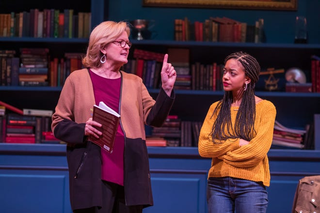 Jordan Baker and Cindy De La Cruz play characters debating issues that divide us.