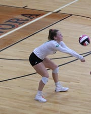 Wall High School's Zoe Granzin passes the ball during District 4-3A action earlier this season.