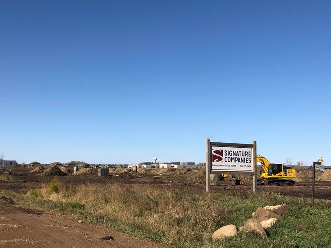 Construction is underway for Whisper Ridge East apartments near 69th Street and Graystone Avenue.