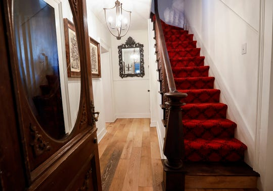 This staircase leads to the second floor at the home once owned by the Zucchini family at 1514 E. Seminole St.