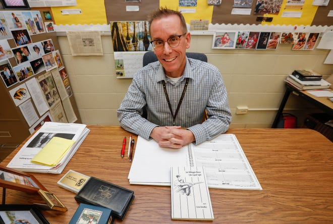 "Loren Broaddus, a history teacher at Kickapoo High School, recently published a book of poetry called ""Joe DiMaggio Moves Like Liquid Light."""