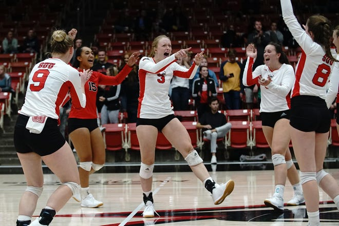 SUU volleyball player Shannon Webb (3) transferred to Cedar City from American, and is having a phenomenal season.