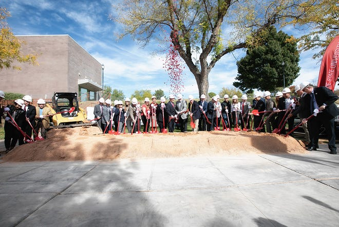 Dixie State University broke ground on Wednesday, Oct. 23, 2019, for its new Science, Engineering & Technology Building. (Alex Santiago/Provided by Dixie State University)
