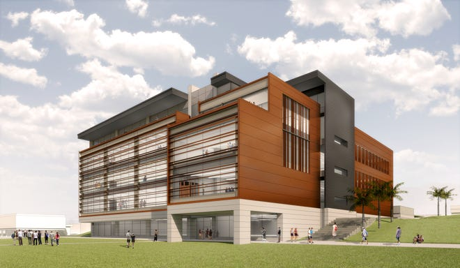 A rendering of Dixie State University's new Science, Engineering & Technology building, which the university broke ground for on Wednesday, Oct. 23, 2019. (Provided by Dixie State University.)