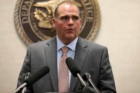 State Attorney Jack Campbell, Second Judicial Circuit speaks at a press conference called by Lawrence Keefe, United States Attorney for the Northern District of Florida, on Thursday, Oct. 24, 2019.