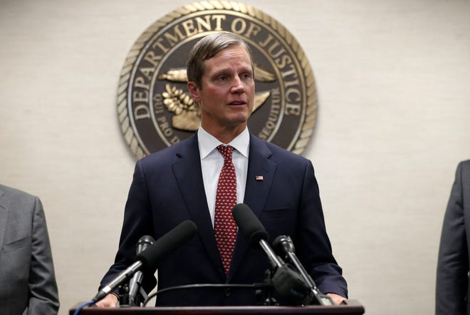 Lawrence Keefe, United States Attorney for the Northern District of Florida, as well as five other Florida state attorneys held a press conference to discuss their shared priorities and ways their offices will coordinate, cooperate, and collaborate in carrying out their separate responsibilities.