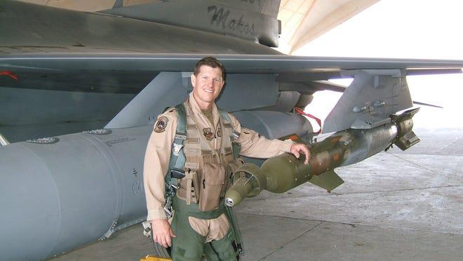 Air Force pilot and FSU grad Joe Feheley in Iraq in 2005.