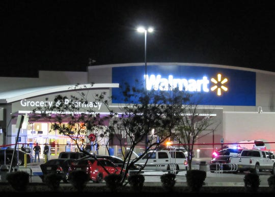The driver of an SUV was fatally shot while dragging two El Paso police officers through the parking lot of the Walmart at 12236 Montana Ave. on Wednesday night, Oct. 23, 2019, a police spokesman said Thursday.
