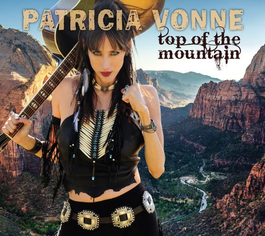 """Patricia Vonne has just released her seventh album, """"Top of the Mountain."""" The singer songwriter has recently added film maker to her resume."""
