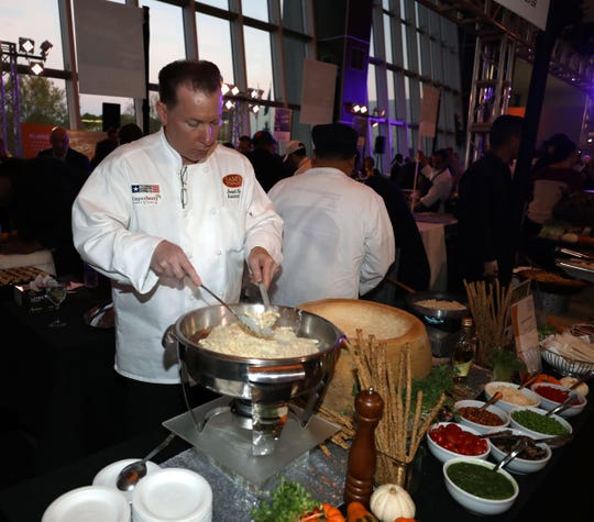 Joseph Sasso, the executive chef at the New York Hospitality Group, is pictured at the annual Feeding Westchester fundraiser, An Evening in Good Taste, in White Plains, Oct. 24, 2019.