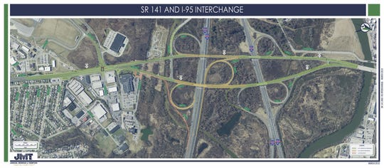 Two ramps will be closed Thursday night as part of an ongoing Del. 141 reconstruction project.