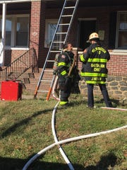 Wilmington Fire Department responds to a fire on the 400 block of North Broom Street on Thursday, Oct. 24.