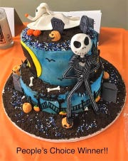 A Nightmare Before Christmas cake by Michelle McHenry entered by Buehler's Foods won the People's Choice Award at the annual Coshocton BPW cake auction.