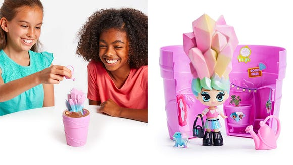 Kids can care for and play with these growing dolls.