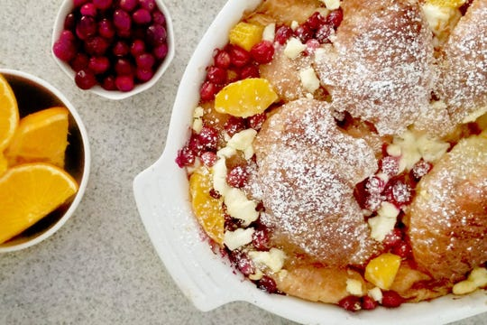 French toast recipe: This orange cranberry French toast bake recipe is brunch perfection