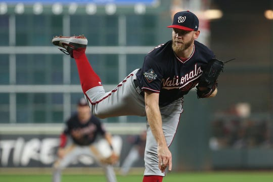 Westlake Legal Group 5c1d2cce-91ea-4923-aa93-0890860c5df3-USATSI_13558639 'Embrace it': Stephen Strasburg's legendary postseason hits its apex with gritty Game 2 win