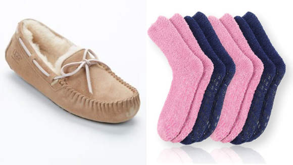 Keep your feet warm with some cozy socks or slippers