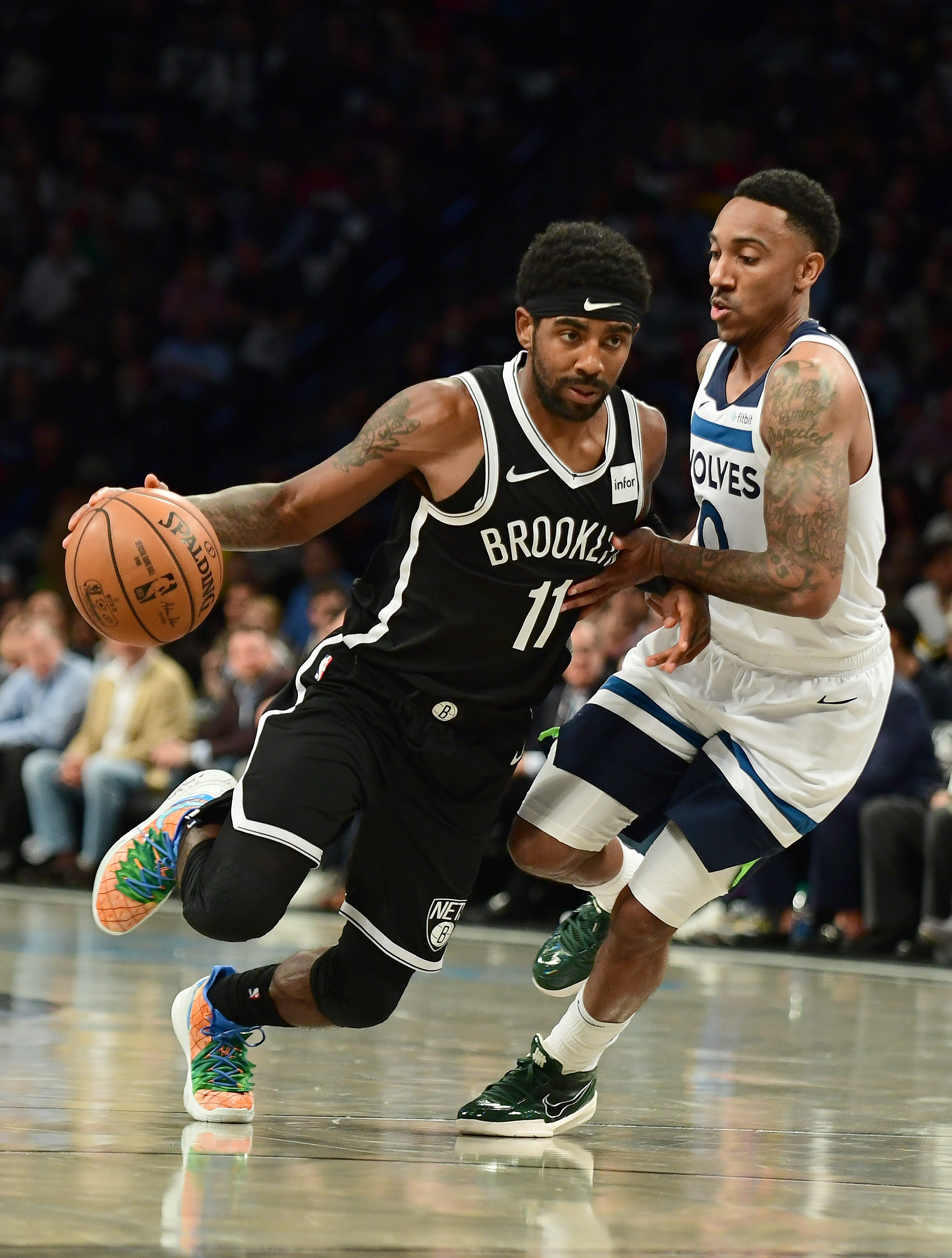 Kyrie Irving dazzles with 50 points in Nets debut, though final shot doesnt go in OT loss