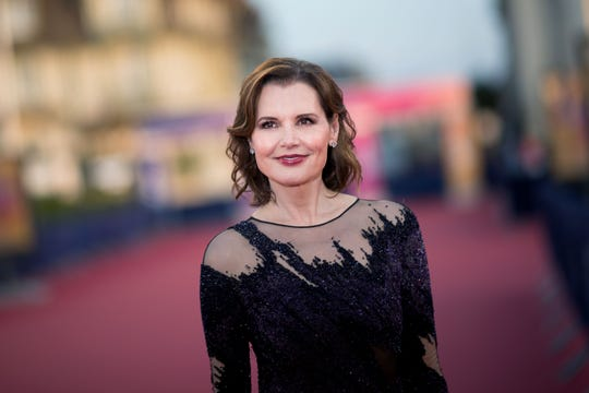 Geena Davis poses on the red carpet during the Deauville Film Festival on Sept. 10, 2019.