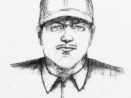 The Rapides Parish Sheriff's Office released this sketch of a man seen leaving an Alexandria bar with Teresa Wren Gilcrease, whose body was found in June 2002. Nobody ever has been arrested in the homicide case.
