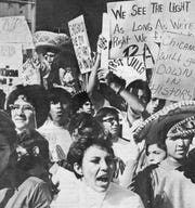 Scenes from the 1969 Chicano walkout.
