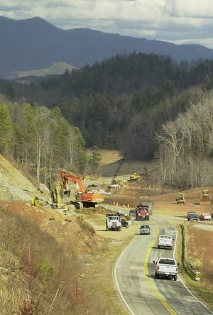 Back in January 2002, contractors cleared the way for a stretch of Corridor K from near the Swain-Graham county line to near the Stecoah community in Graham. This section crossed a portion of Fontana lake.