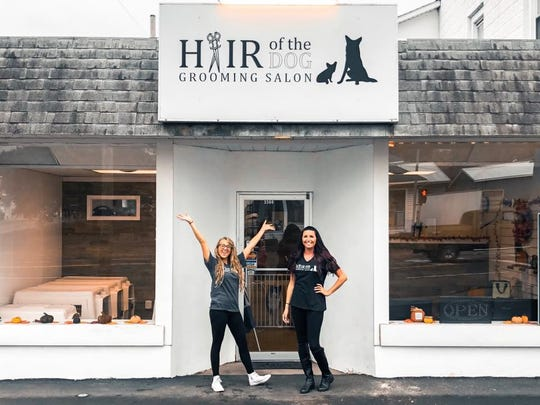 Kallie Foltyn and Brittany Clarke are the co-owners of Hair of the Dog Grooming Salon.