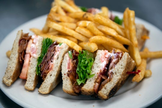 A club sandwich from the new Olga's diner in Marlton.