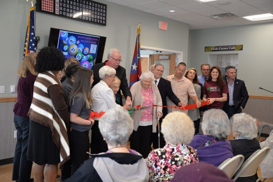 Ribbon cutting of the new Hickory Senior Citizens Center in the Fords section of Woodbridge.