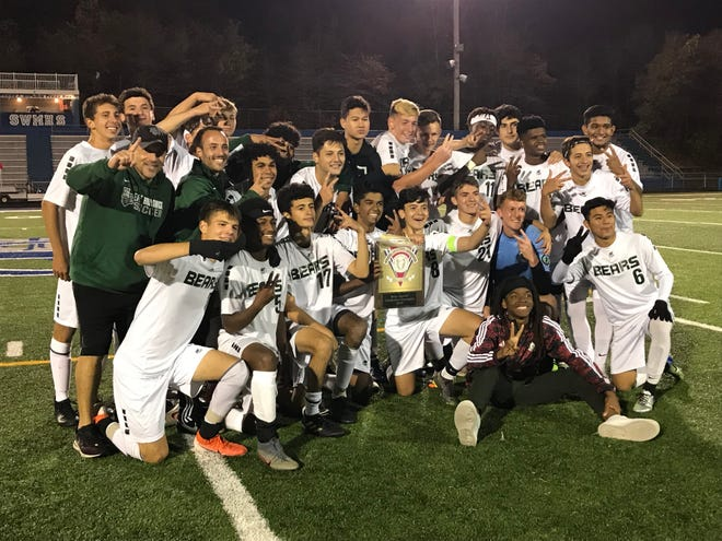The fourth-seeded East Brunswick boys soccer team won its second-straight GMC Tournament title with a 4-3 penalty kick victory over No. 3 South Brunswick on Thursday, Oct. 24, 2019.