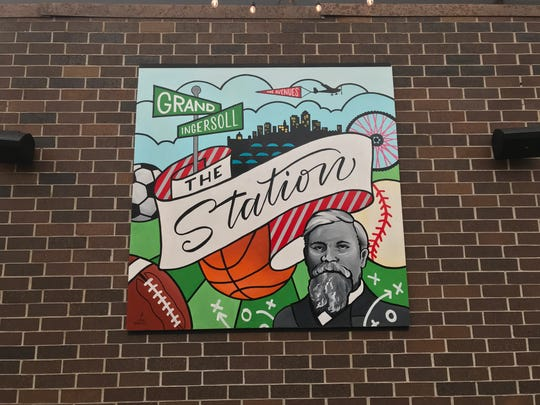 Murals at The Station on Ingersoll were created Des Moines artist, Jenna Brownlee.