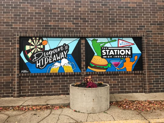 Murals at The Station on Ingersoll were created by Jenna Brownlee, a Des Moines artist.