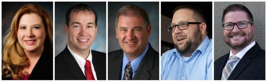 Ankeny City Council candidates Bobbi Bentz, Mark Holm, Dennis Liberty, Jeff Perry and Joe Ruddy