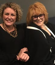Ann-Margret, right, and Maria Filippone at Noce jazz club in Des Moines, Oct. 18, 2019.