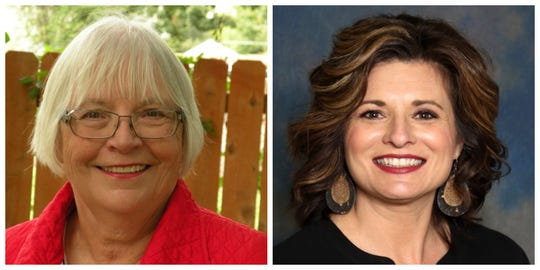 Shirley Clarke and Heather Hulenare running for an at-large seat on the Indianola City Council.