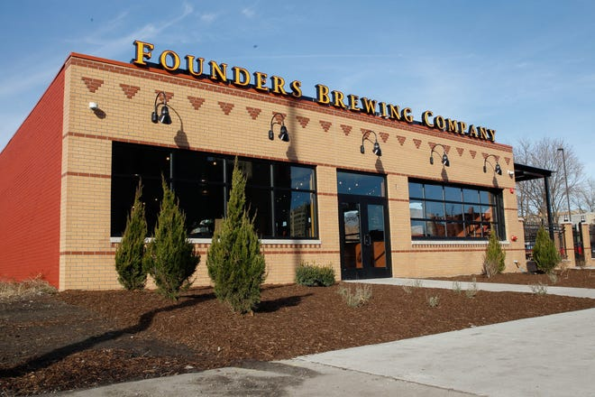 Founders Brewing Company's Detroit taproom at 456 Charlotte Street.